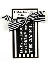 LUGGAGE TAG - LIVE LAUGH DREAM RELAX DREAM ENJOY TRAVEL