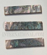 1pc Green abalone blanks 10x42x1.5mm
