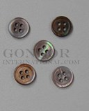 1pc Brownlip MOP buttons 4H 18Lx1.7mm
