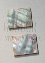 1pc Green abalone blanks 14x22x1.2mm