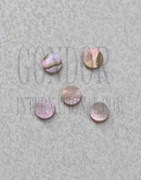 1pc Red abalone dots 3.17mm (1/8