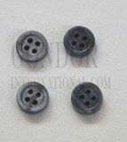 1pc Fresh Water Pearl button grey 4H 14Lx3mm