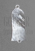 1pc White MOP Truss rod cover 25x58x1.5mm