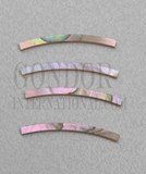 1pc Red abalone strips curved 2.5x25x1.3x76.2mm