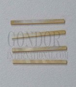 1pc Gold MOP strips straight 1.5x25x1.3mm
