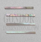 1pc Red abalone strips straight 1.2x25x1.5mm