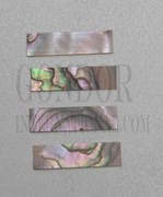 1pc Red abalone strips straight 9.52x25x1.3mm
