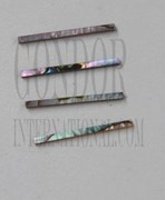 1pc Pink abalone strips straight 2x25x1.3mm