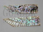 1pc Green abalone feathers 30x125x0.15mm