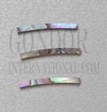 1pc Pink abalone strips curved 1.5x18x1.5x120mm