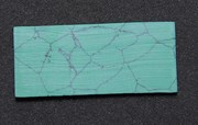 1pc Turquoise Tibetian A1 reconstituted stone 30x70x1.5mm