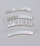 1pc White MOP strips curved 2x25x1.3x125mm