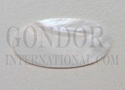 1pc Fresh Water Pearl oval blanks 18.9x38.8x1.5mm