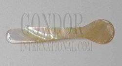 1pc Mother of Pearl spoons gold 100mm