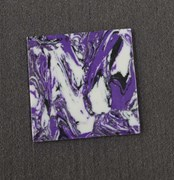 1pc Amethyst CH2I4 reconstituted stone blanks polished 1 side 50 x 50 x 1.5mm