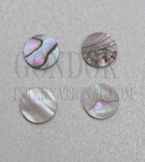 1pc Red abalone dots 6x1.5mm