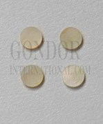 1pc Gold MOP dots 6 x 1.3mm