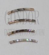 1pc Green abalone strips curved 1.6x25x1.3x76.2mm