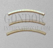 1pc Gold MOP strips curved 1.6x25x1.3x110mm