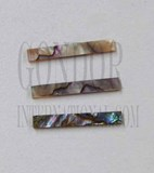 1pc Green abalone strips straight 3.4x25x1.3mm