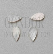 1pc White MOP inlay tear drops 3.3x10.2x1.8mm