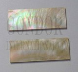 1pc Gold MOP inlay feather blanks 32x110-120x1.6mm
