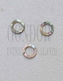 1pc Green abalone rings 6mm D x 4.05mm H x 1.5mm