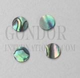 1pc Paua dots 9.5x1.3mm