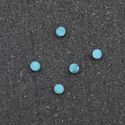 1pc Turquoise CH2A6 dots 3 x 1.3mm