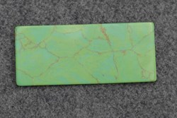 1pc Turquoise green CH2C2 reconstituted stone blanks 30x70x1.5mm