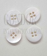1pc Fresh Water Pearl button 4H 14Lx3mm