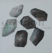 1oz Black Mother of Pearl blanks mixed size 0.5mm