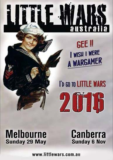 Little Wars Canberra is this Sunday (6 Nov)