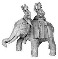 20132 - Hellenistic Elephant, with 2 crew, Pike Astride Left
