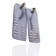 Two Embossed Tags