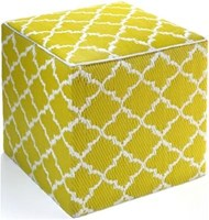 Tangier Celery Green Cube - Outdoor Pouf