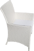 Armed Diamond Dining Chair - White
