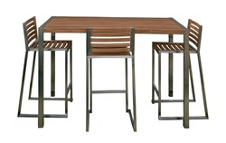 Teak 6 Person Bar Setting