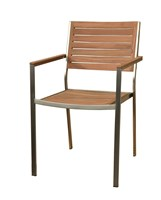 Teak Stripe Dining Chair