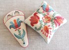Tulipa - Pin Cushion & Scissor Case by Anna Scott