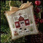 FARMHOUSE CHRISTMAS 1 - Little Red Barn - Little House Needleworks