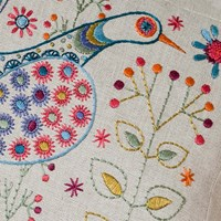 NANCY NICHOLSON CUSHION SEW KIT - Long Tail Bird