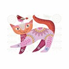 NANCY NICHOLSON STITCH KIT - CAT PINK