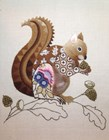 SQUIRREL CREWEL WORK KIT - Nicola Jarvis Studio