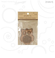 MAKE IT - CROSS STITCH TIMBER OWL SHAPE