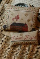SILENT NIGHT PINKEEP & ORNAMENT - Stacy Nash Primitives