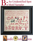 UNIDENTIFIED SPOT MOTIF SAMPLER - Needlework Press
