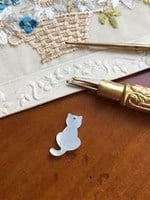 MOTHER OF PEARL  CAT BUTTONS - Reflets de Soie
