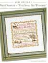 BIRTH SAMPLER - You shall See Wonders - JBW DESIGNS by Judy Whitman