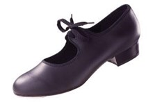 Girls  Pu low heel  Tap Shoe Black Roch Valley 5 small only